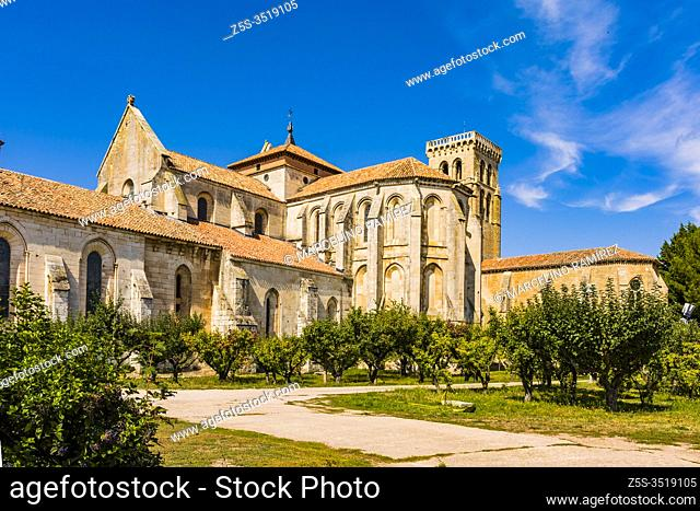 Ambulatory and gardens of the monastery. The Abbey of Santa María la Real de Las Huelgas is a monastery of Cistercian nuns