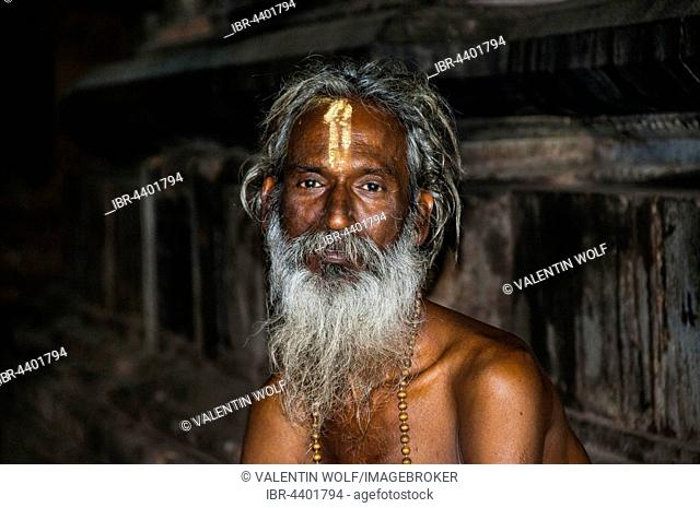 A sadhu, Srirangam, Iruchirappalli District Tamil Nadu, India