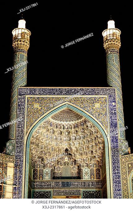 Imam's mosque at night, Isfahan, Iran
