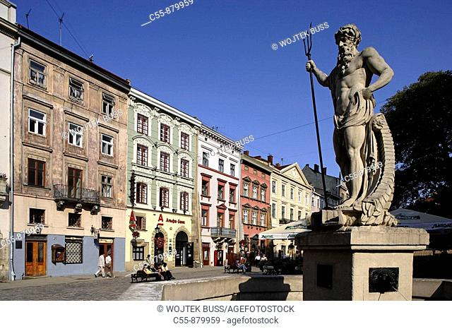 Lviv,Lvov,Market  Rynok square,merchant houses,15th-19th centuries,Western Ukraine