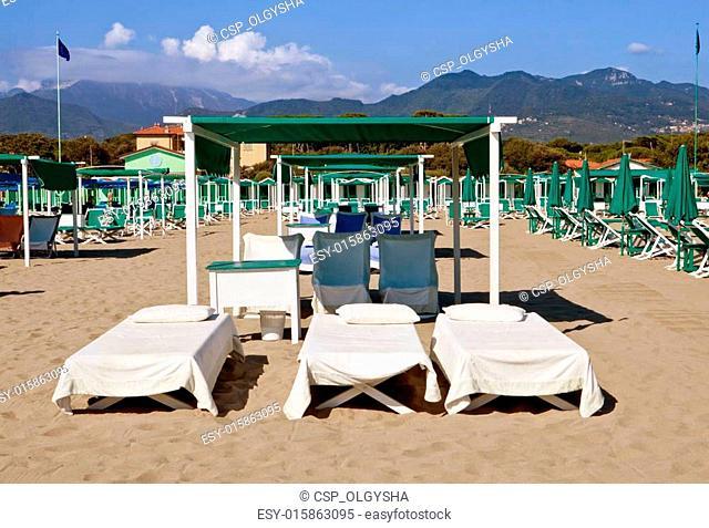 beach Forte Dei Marmi, Italy