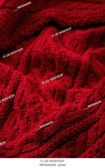Close up of red sweater