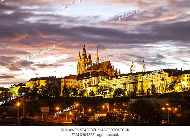 Evening at Hradcany Castle in Prague