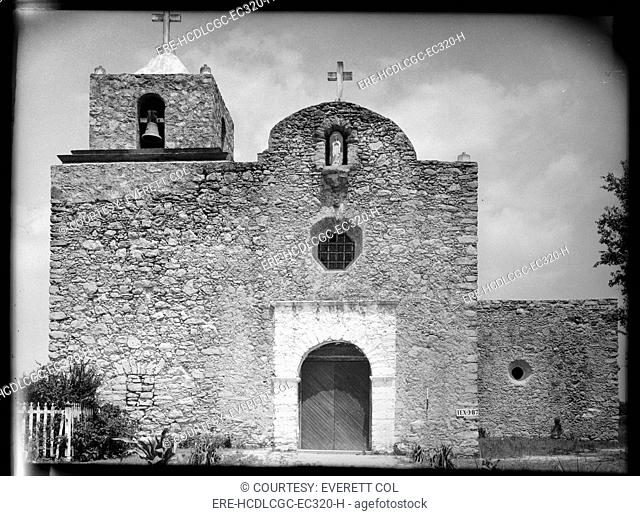 La Bahia Presidio Chapel, Goliad, Texas. Here the Texian prisoners were held prior to being massacred by the Mexican Army under Santa Anna's orders