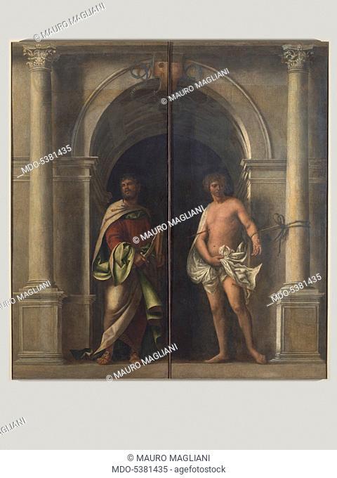 Organ Shutters with Saints (Ante d'organo con santi), by Sebastiano del Piombo, 1507, 16th Century, oil on canvas