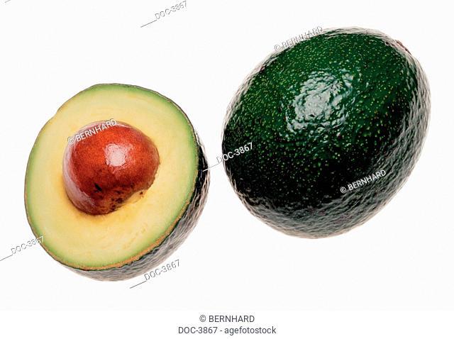 avocado on white basis