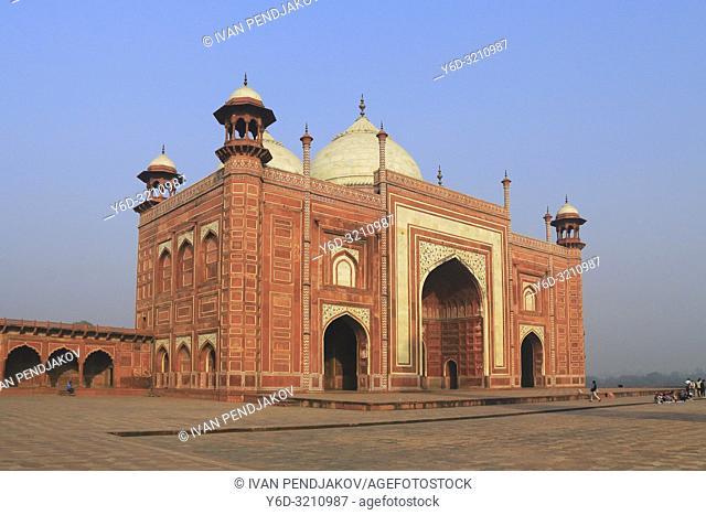 Taj Mahal Complex at Sunrise, Uttar Pradesh, India