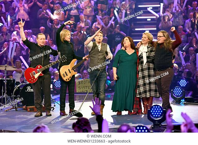 German ARD Live TV show 'Schlagercountdown - Das grosse Premierenfest' at Grosse EWE Arena. Featuring: The Kelly Family Where: Oldenburg