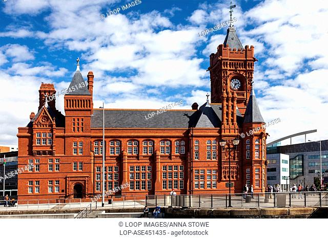 The Pierhead Building of the National Assembly of Wales in Cardiff Bay