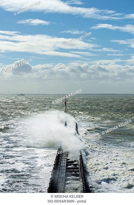 Storm waves, Vlissingen, Zeeland, Netherlands