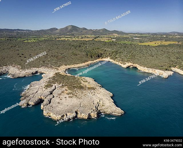 Cala Varques, Manacor, Mallorca, Balearic Islands, Spain