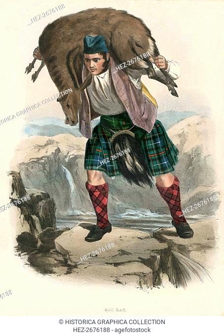 Mac Rae, from The Clans of the Scottish Highlands, pub. 1845 (colour lithograph)