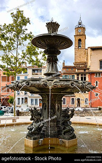 View of Martigues, district of the island, the Venice of Provence, welcome to Provence