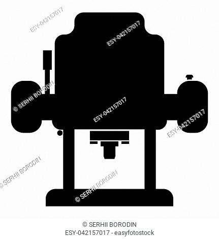 Milling cutter icon black color vector illustration flat style simple image