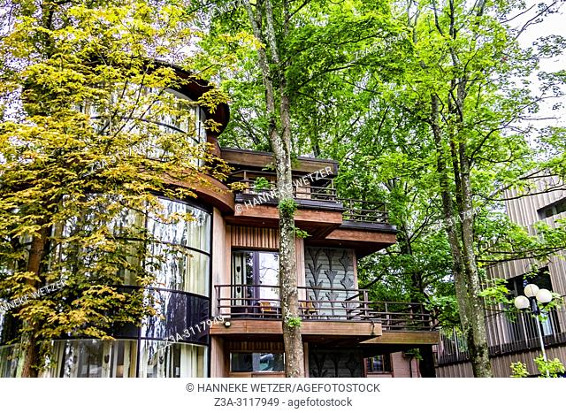 Modern architecture in the forest of Jurmala, Latvia, Europe