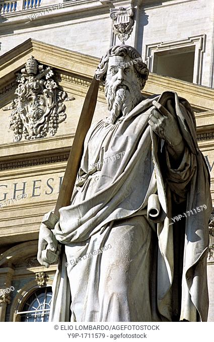 Statue of Saint Paul, Saint Peter Square  Vatican City, Rome, Italy