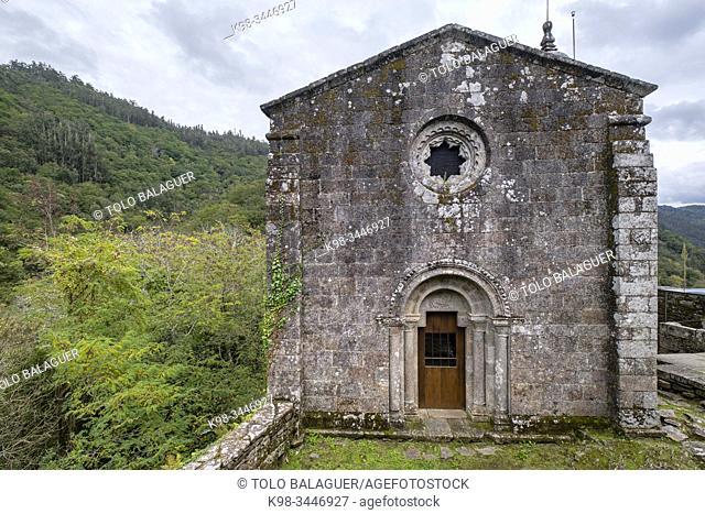 iglesia de Santa Isabel, Monasterio de San Juan de Caaveiro, parque natural Fragas del Eume, â. ‹ provincia de La Coruña, Galicia, Spain