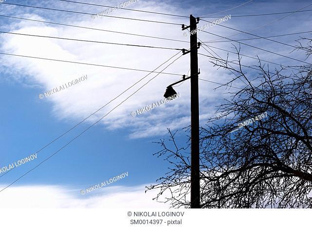 Vertical power line background hd