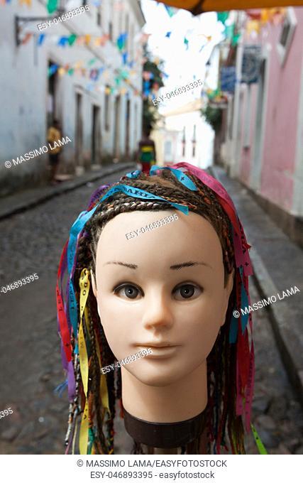 Doll in Pelourinho, Salvador de Bahia. , Brazil