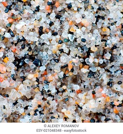 Macro-photo of a quartz sand