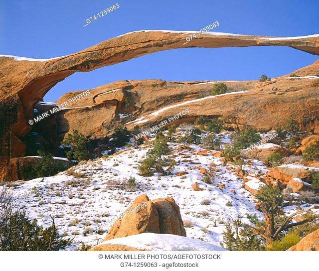 Landscape Arch Arches National Park Utah USA