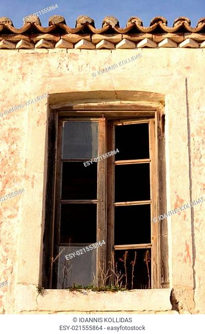 Abandoned house window