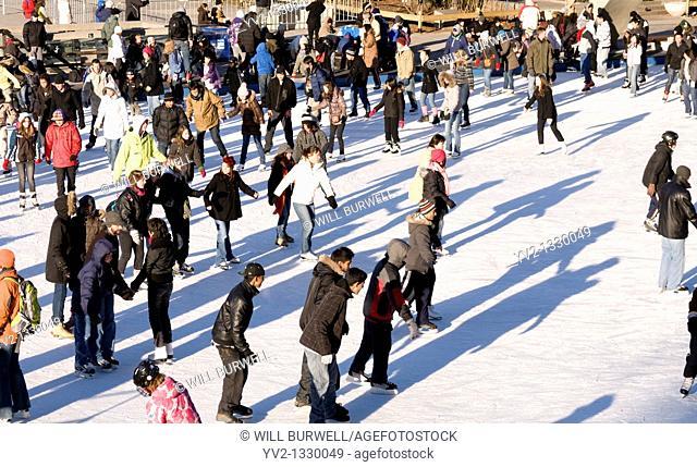 Skating at Nathan Philips Square Toronto