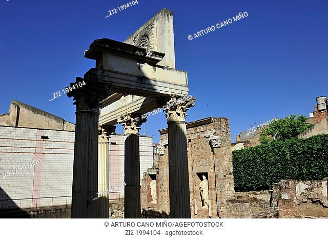 Roman Forum. Merida, Badajoz, Spain