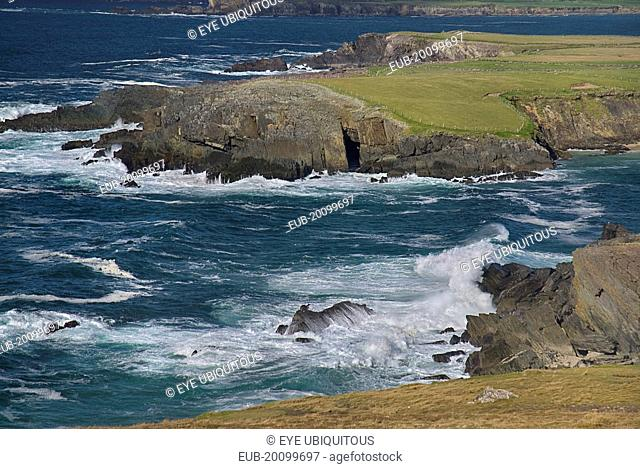 Crashing waves at Clogher Head