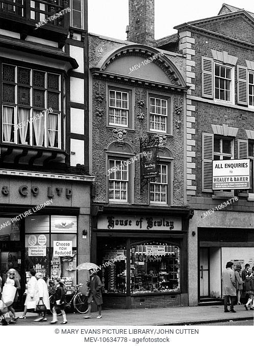 The House of Bewlay tobacconist's shop in Eastgate Street, Chester, Cheshire, where paranormal activity was reported from 1968 onwards