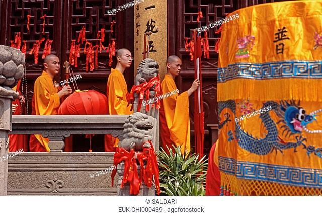 Shanghai,Jade Buddha Temple,ceremony,China