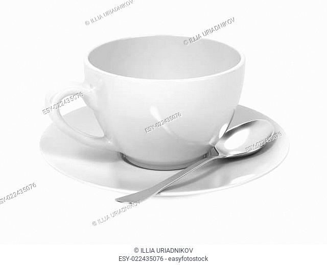 Cup with Spoon and Saucer