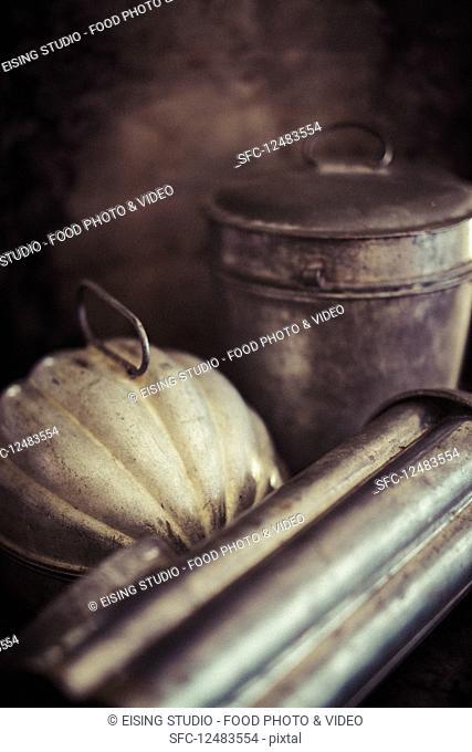 Antique bread baking tins