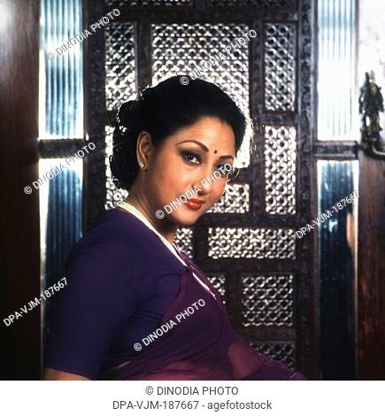 1981, Portrait of Indian film actress Mala Sinha