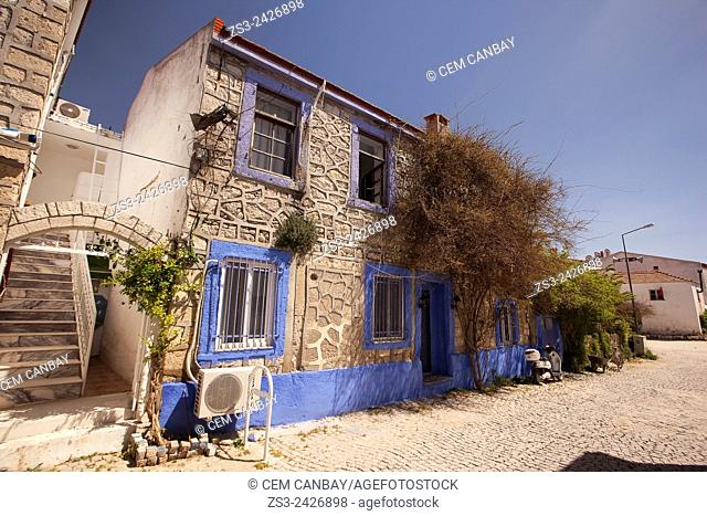 Traditional house in Alacati town, the historic centre of Zeytineli Koeyue, Cesme, Izmir, Turkey, Europe