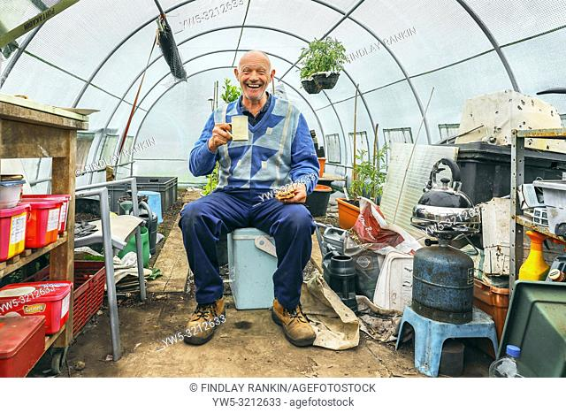 George Kyle, Plot 71, Eglinton Growers Allotments, Kilwinning, Ayrshire, Scotland, UK