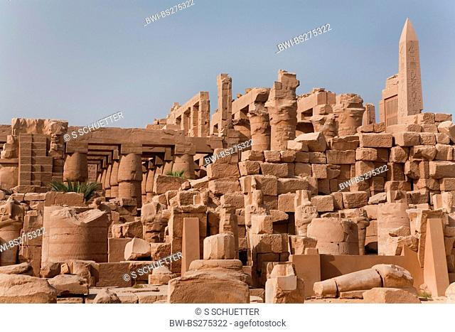 backside of the Precinct of Amun-Re, the largest and most important sanctuary of the ancient Egypt, Egypt, Karnak, Luxor