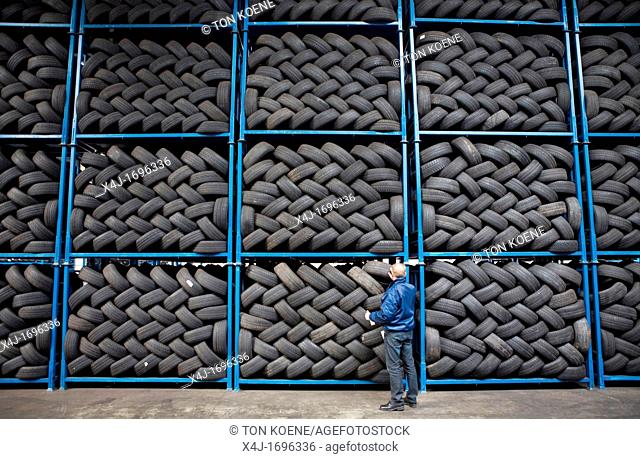 Recycling of tyres The best are stored and shipped to third world countries the bad tires are shredded into granulate and processed for different purposes All...