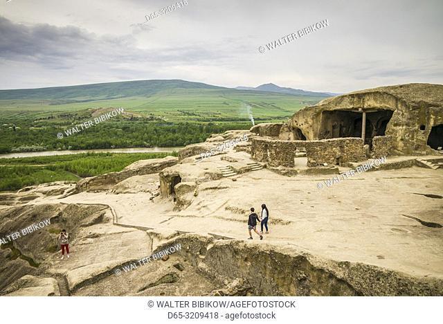 Georgia, Uplistsikhe, 7th century cave city, visitors, NR