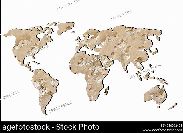 Roughly sketched out world map as global business concepts