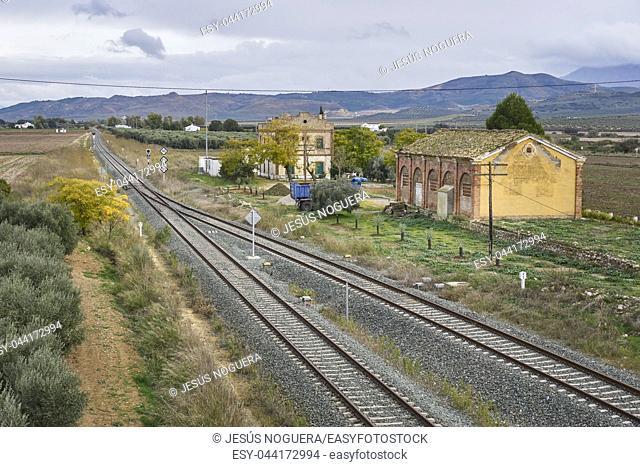 Bobadilla train station in Antequera, Malaga. Spain