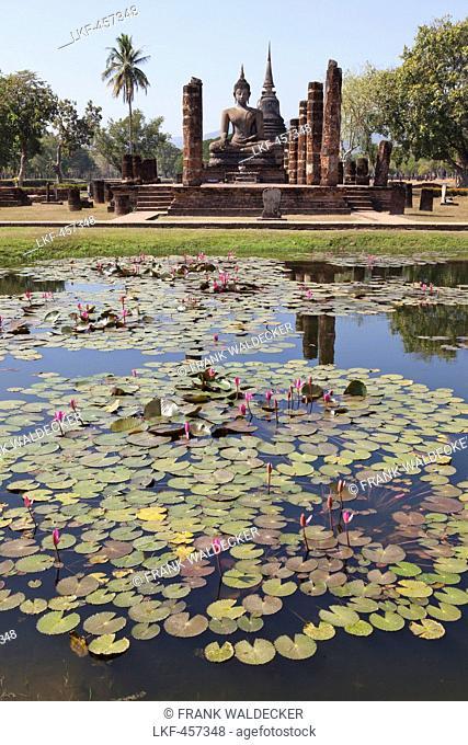 Temple in Sukhothai Historical Park UNESCO World Heritage Site, Sukothai Province, Thailand, Asia