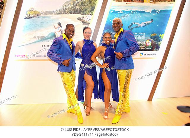 Representation of Colombia in the international tourism fair FITUR, Madrid, Spain