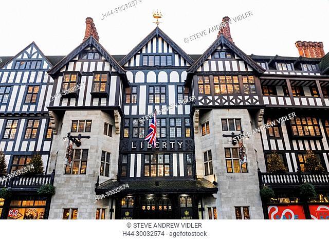 England, London, Liberty Department Store