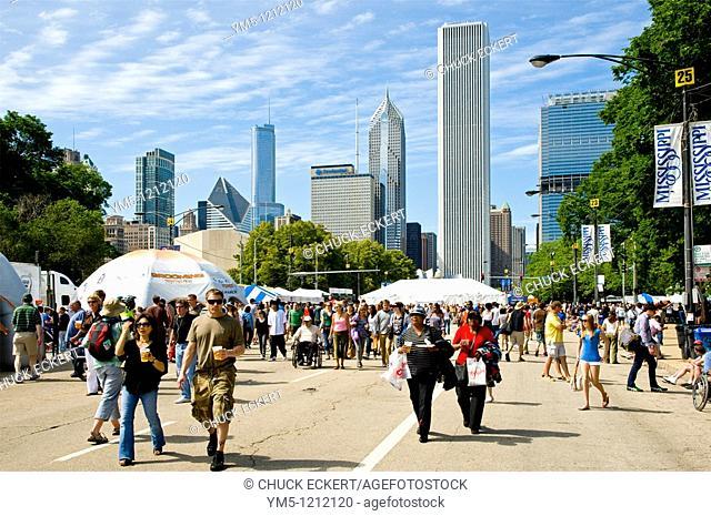 Chicago Blues Festival crowd
