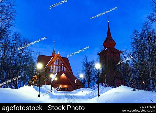 Kiruna, Sweden The wooden church of Kiruna built in 1911
