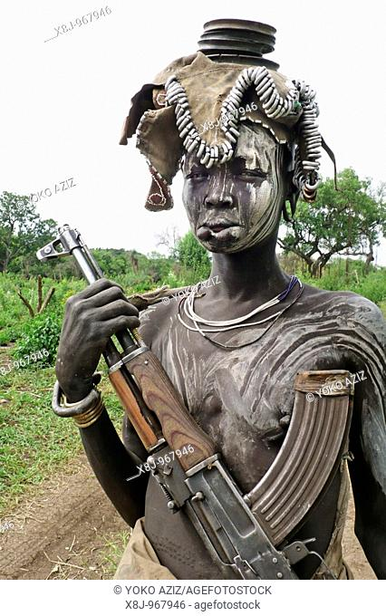 ethiopia, omo valley, mursi tribe, mago national park