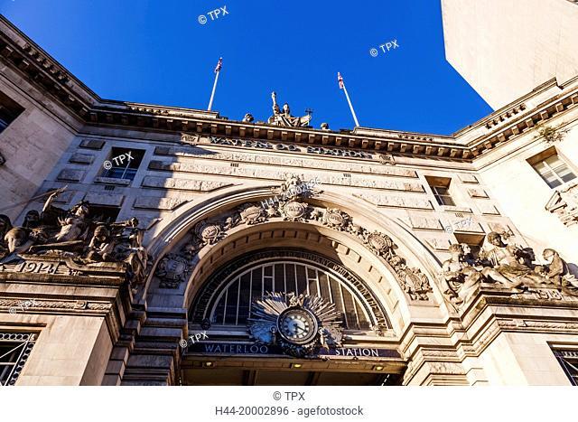 England, London, Waterloo Station, Main Entrance