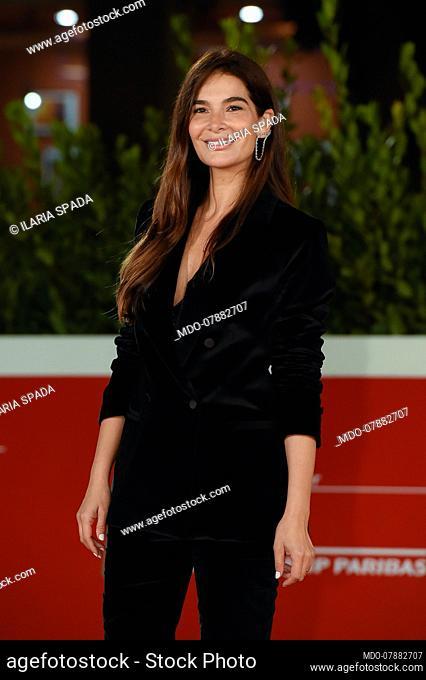 Italian actress Ilaria Spada at Rome Film Fest 2020. Cosa sarà Red Carpet. Rome (Italy), October 24th, 2020