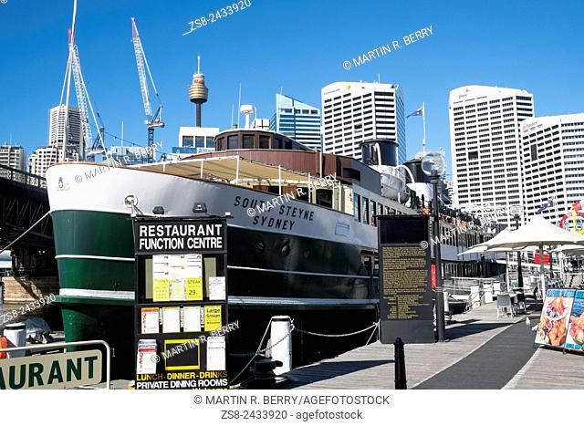 South Steyne original Manly Ferry now a restaurant in Sydney Darling Harbour